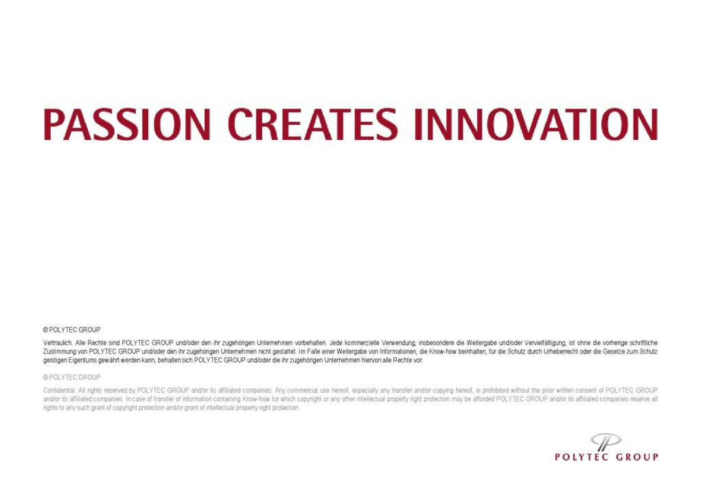 Polytec Passion Creates Innovation (01.10.2015)