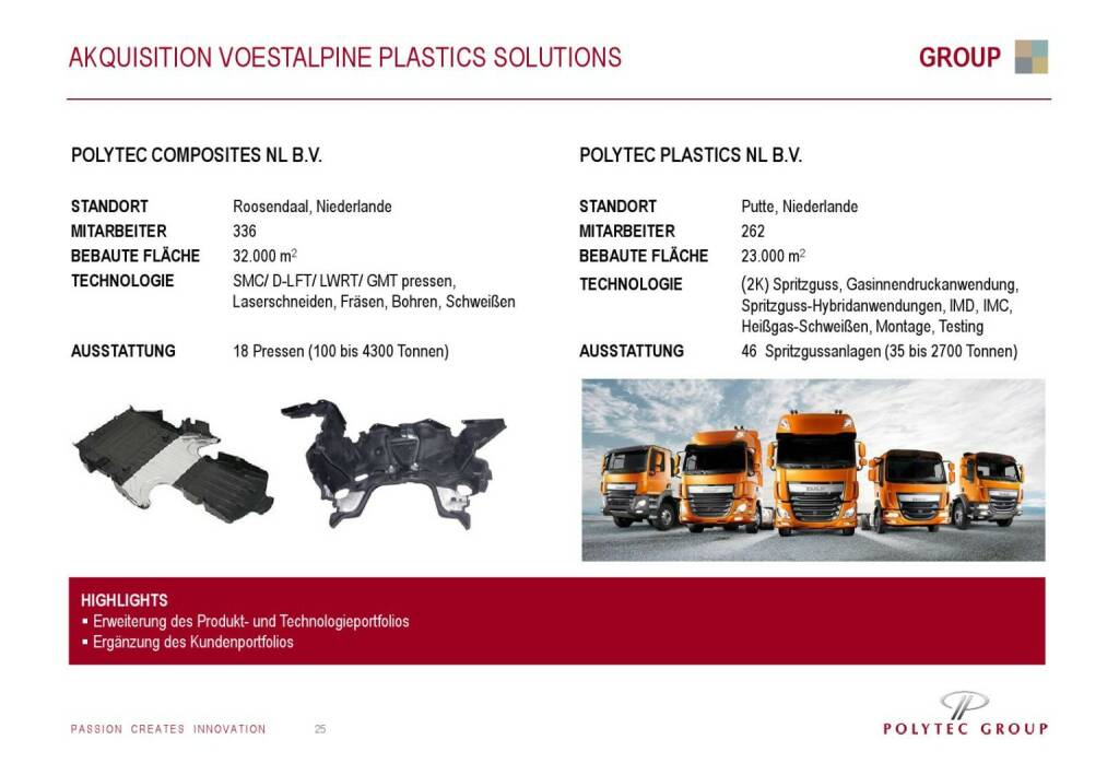 Polytec Akquisition voestalpine Plastics Solutions (01.10.2015)