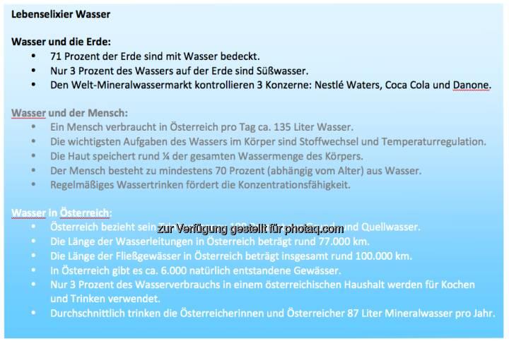 Lebenselexier Wasser: Info zum Weltwassertag von http://www.sodastream.at
