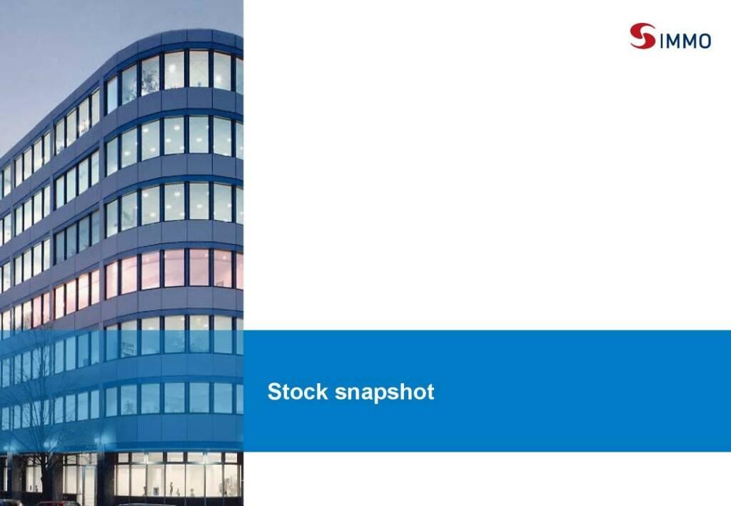 S Immo Stock snapshot (01.10.2015)
