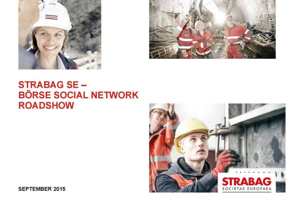 Strabag Unternehmenspräsentation (01.10.2015)