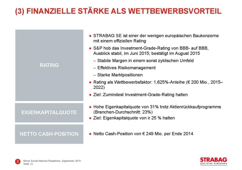 Strabag finanzielle Stärke (01.10.2015)