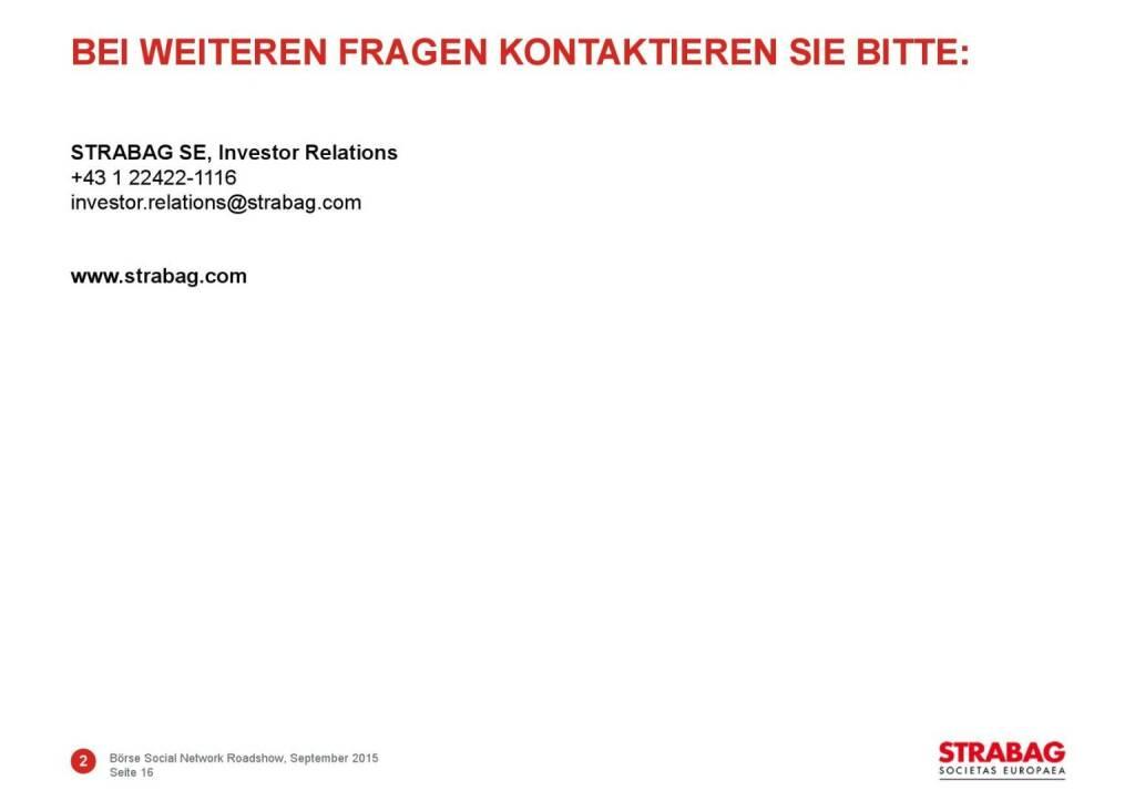 Strabag Investor Relations (01.10.2015)