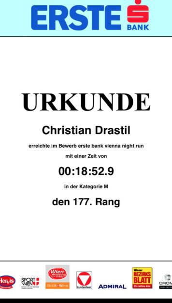 Rang 177 von knapp 20.000 beim Vienna Night Run 2015 (01.10.2015)