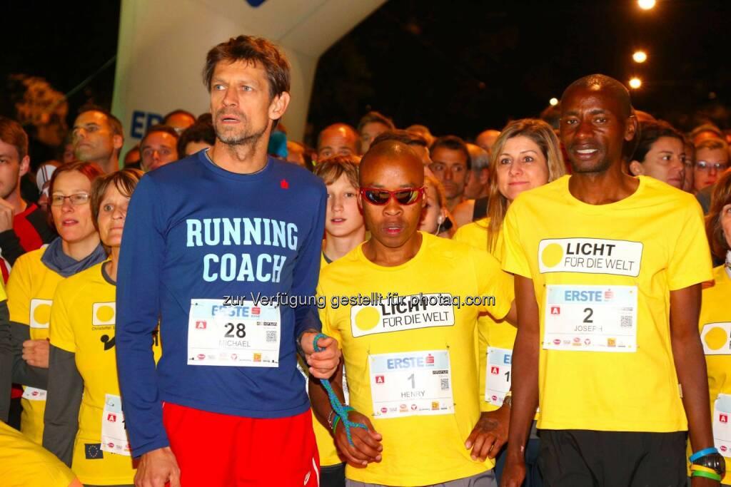 Michael Buchleitner, Henry Wanyoike, Joseph Gibunja, © leisure.at/Ludwig Schedl (02.10.2015)