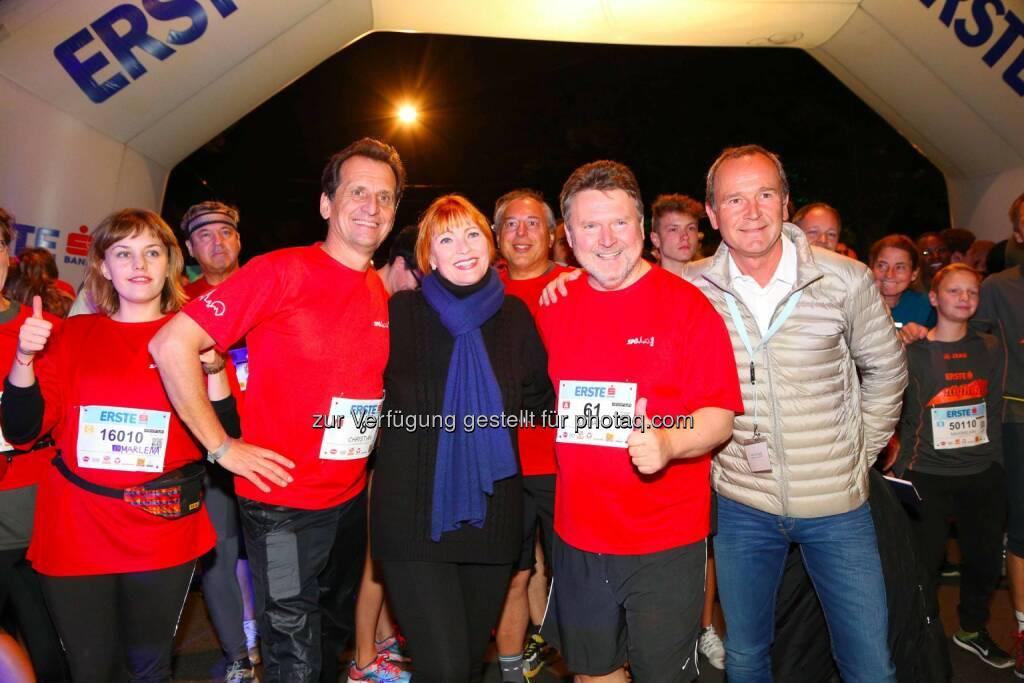 Stadtrat Christian Oxonitsch, Chris Lohner, Stadtrat Michael Ludwig, Hannes Menitz, © leisure.at/Ludwig Schedl (02.10.2015)