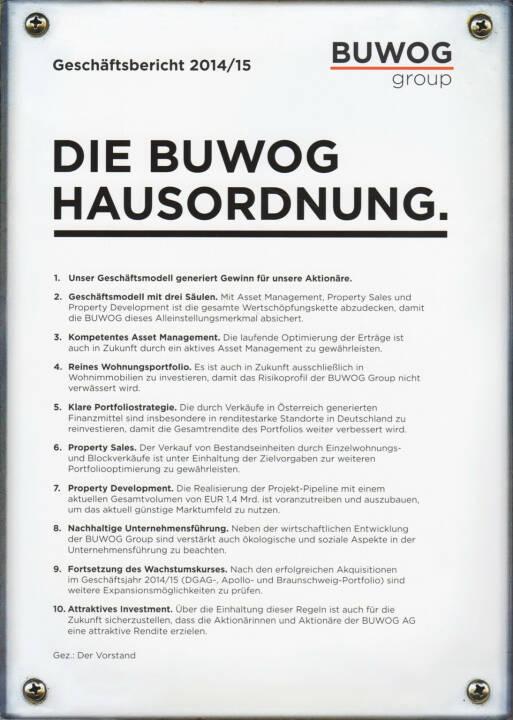 Buwog Geschäftsbericht 2014/15 - http://boerse-social.com/financebooks/show/buwog_geschaftsbericht_2014-15