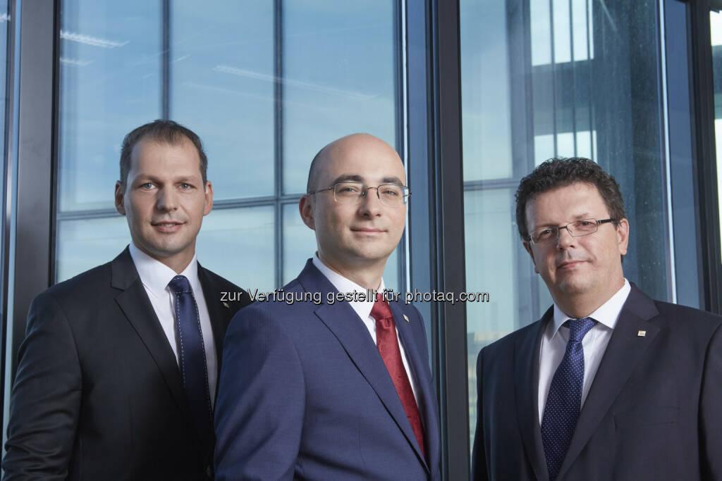 Markus Felder, Jörg Sollfelner, Christian Wojta : Geschäftsführung der EnergieAllianz Austria : Fotocredit: EAA/Rafaela Pröll, © Aussender (05.10.2015)
