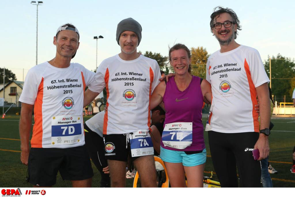 Mit Andreas Schweigerhofer, Martina Draper und Josef Chladek als Team Runplugged beim Manager Run. GEPA pictures/ Philipp Brem, zur Verfügung gestellt von der Österreichischen Sporthilfe (06.10.2015)
