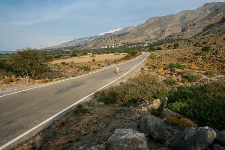 laufen, Kreta, Griechenland