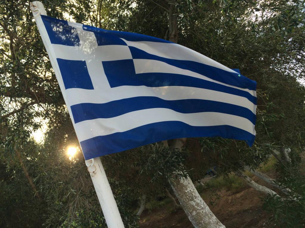 Griechenland, Fahne, © Martina Draper (14.10.2015)