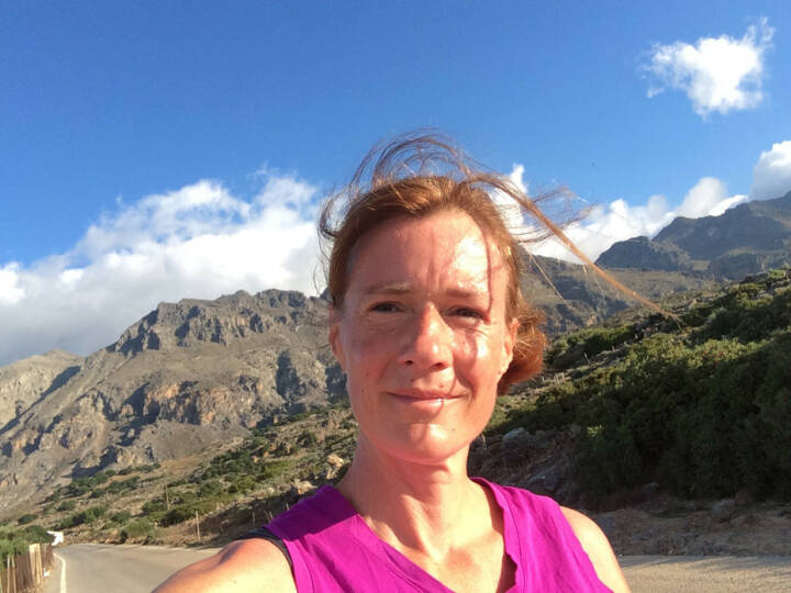 Selfie vor Bergpanorama