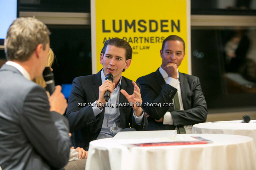 Außenminister Sebastian Kurz, Robin Lumsden (Lumsden and Partners), © Martina Draper (16.10.2015)