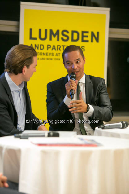 Außenminister Sebastian Kurz, Robin Lumsden (Lumsden and Partners) , © Martina Draper (16.10.2015)