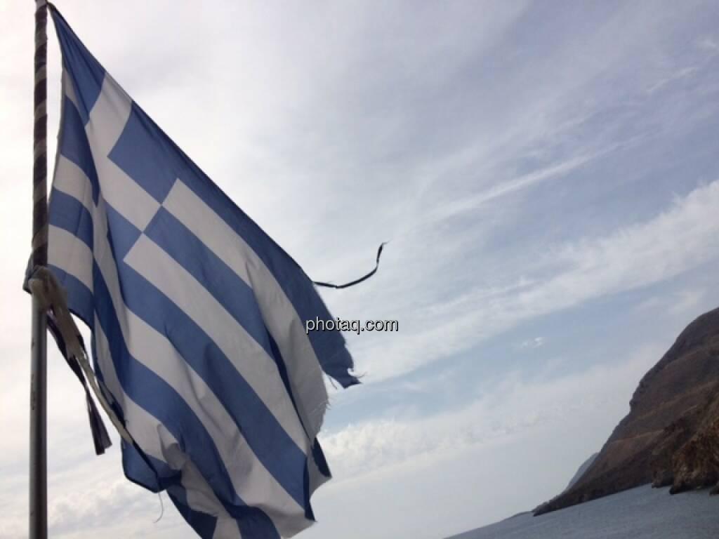 Griechenland, Krise, Fahne, © Martina Draper (17.10.2015)