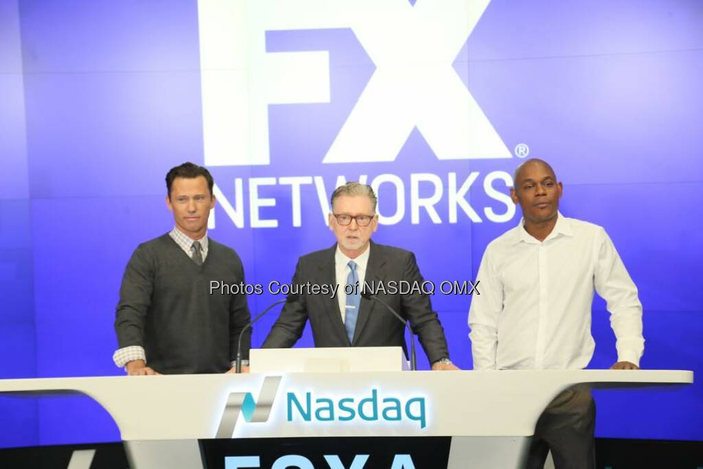 Great photos from the Fargo Closing Bell! $FOXA FX Networks  Source: http://facebook.com/NASDAQ (18.10.2015)