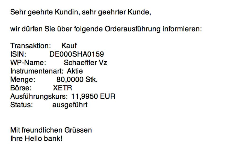 Tag 76: Kauf 80 Schaeffler Vz. zu 11,995  (20.10.2015)
