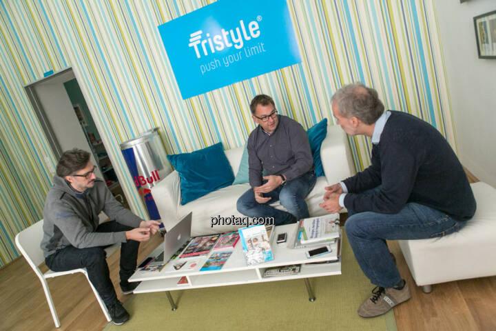 Josef Chladek (BSN), Helmut Lehner (Mavoco), Christian Drastil (BSN)