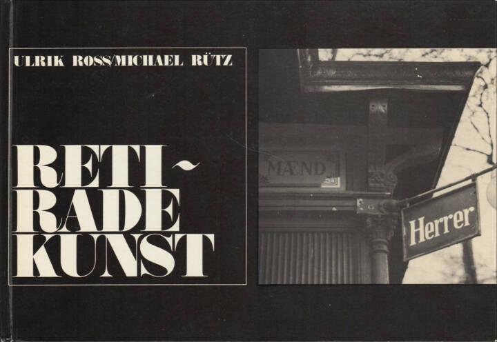 Ulrik Ross & Michael Rütz - Retiradekunst, Chr. Erichsens Forlag 1968, Cover - http://josefchladek.com/book/ulrik_ross_michael_rutz_-_retiradekunst