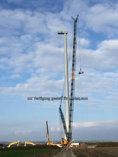 Windkraft Simonsfeld AG installiert zwei Windparks im Weinviertel (Bild: Windkraft Simonsfeld), © Aussendung (23.10.2015)