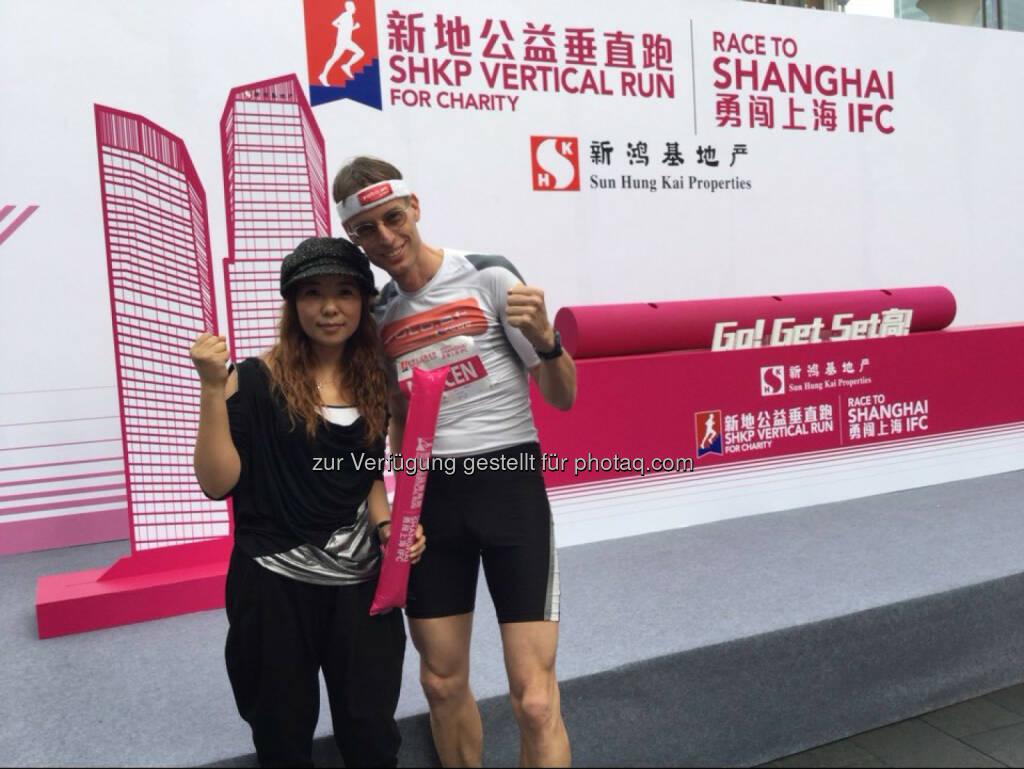 Rolf Majcen: 6. Platz beim Treppenlauf in Shanghai., © Aussendung (27.10.2015)