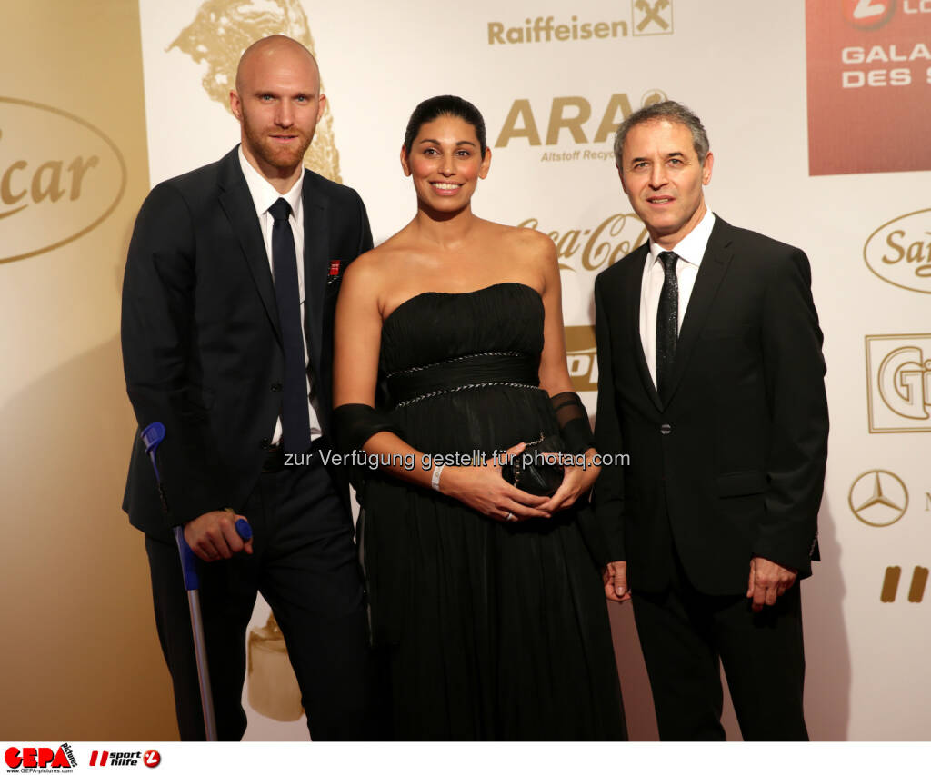 Robert Almer, Dominique Nadarajah, Marcel Koller : Photo: GEPA pictures/ Walter Luger (30.10.2015)