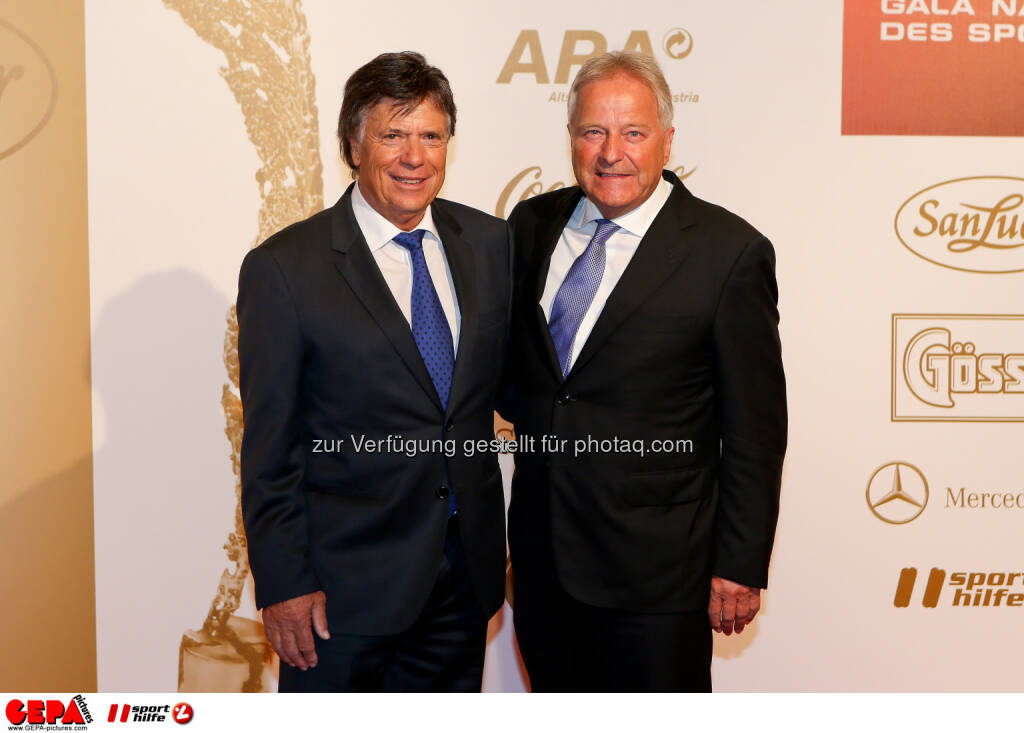 Peter Schröcksnadel, Leo Windtner : Photo: GEPA pictures/ Christian Walgram (30.10.2015)