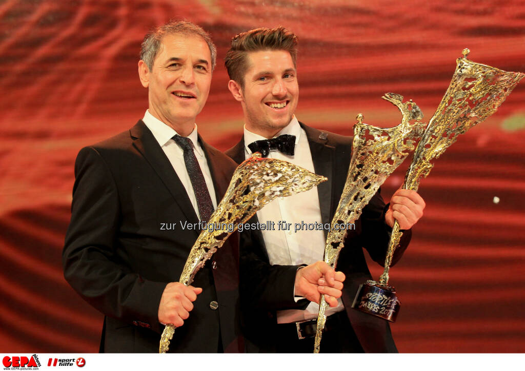 Marcel Koller, Marcel Hirscher : Photo: GEPA pictures/ Christian Walgram (30.10.2015)