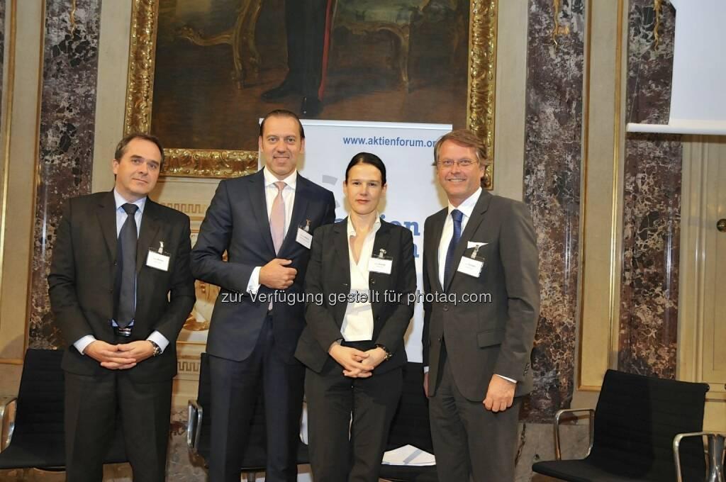 Wolfgang Matejka (Matejka & Partner), Werner Hoffmann (Contrast Management), Bettina Schragl (BE), Hans Tschuden (Telekom Austria) (15.12.2012)
