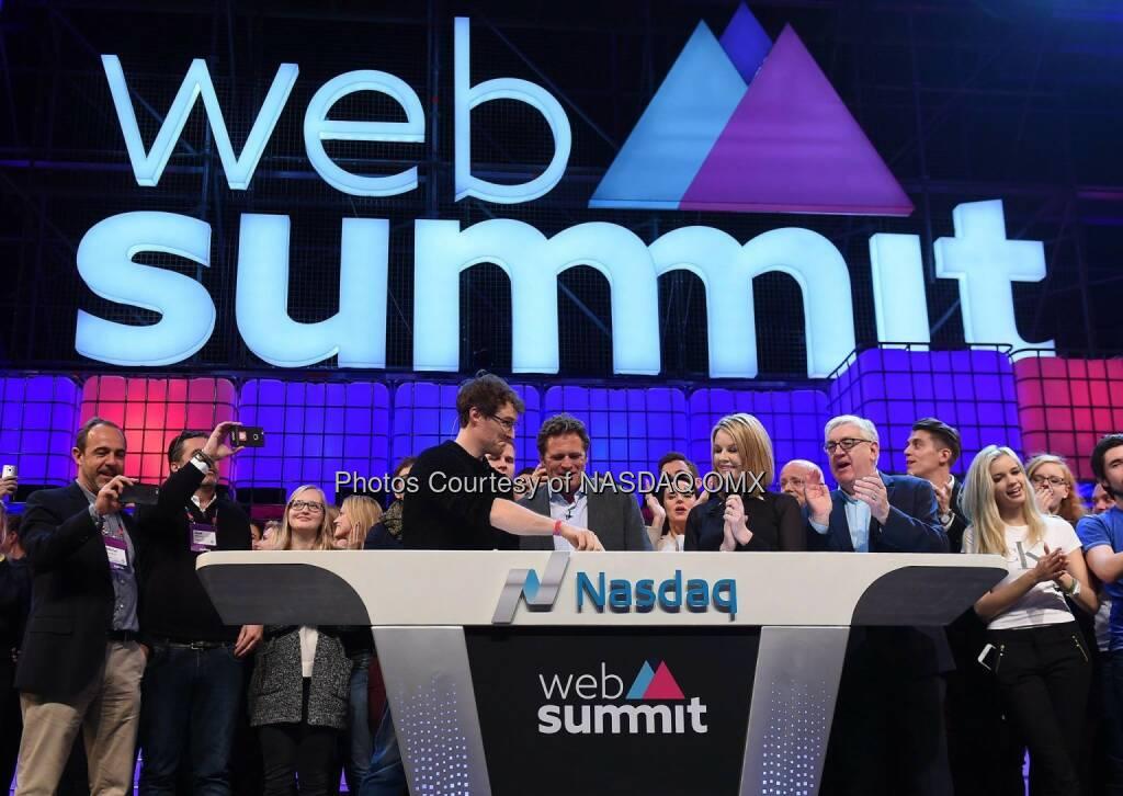 Web Summit rang the Nasdaq Closing Bell live from Dublin!  Source: http://facebook.com/NASDAQ (05.11.2015)