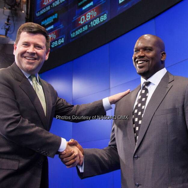 In celebration of @BobMccooey's Birthday here is a #TBT to the time he met @Shaq at @Nasdaq!  #HappyBirthday #throwback #throwbackthursday  Source: http://facebook.com/NASDAQ (06.11.2015)