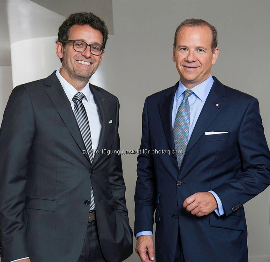 Gerhard Burtscher (l.) löst mit 01.01.2016 Peter Gaugg ab: Bank für Tirol und Vorarlberg Aktiengesellschaft: BTV: Sicherheit dank starkem Ergebnis und erfolgreicher Kapitalerhöhung (C) Raimo Rudi Rumpler, © Aussender (06.11.2015)