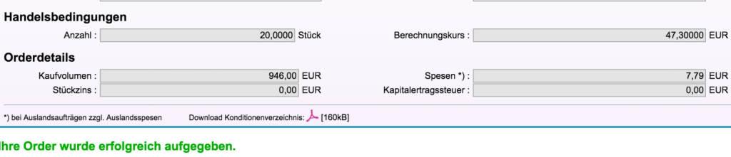 Tag 88: Kauf 20 Qualcomm zu 47,30 Euro (06.11.2015)
