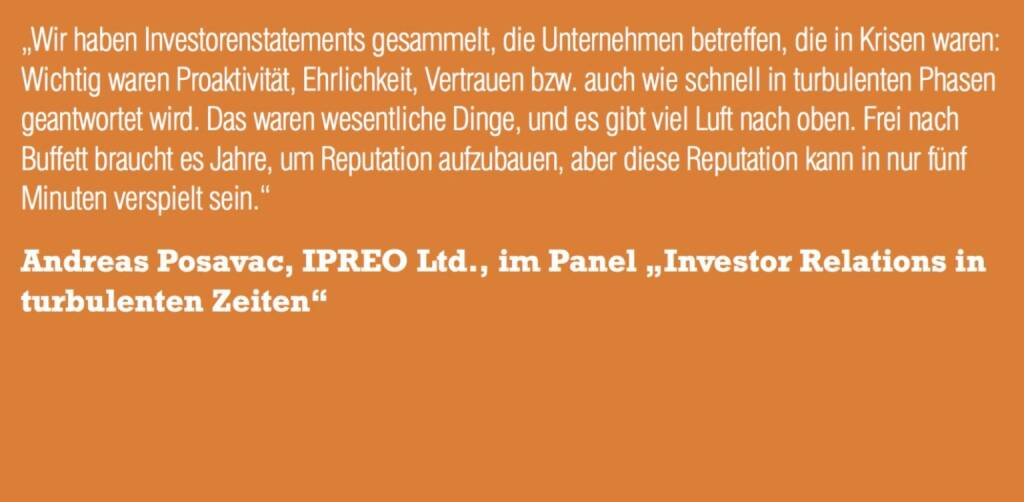 "Andreas Posavac, IPREO Ltd., im Panel ""Investor Relations in turbulenten Zeiten"" (06.11.2015)"