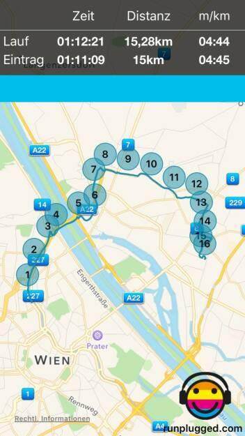 Neue Strecke mit http://www.runplugged.com/app erkundet. Ziel: Die Elternwohnung, aber die waren spazieren ... (08.11.2015)