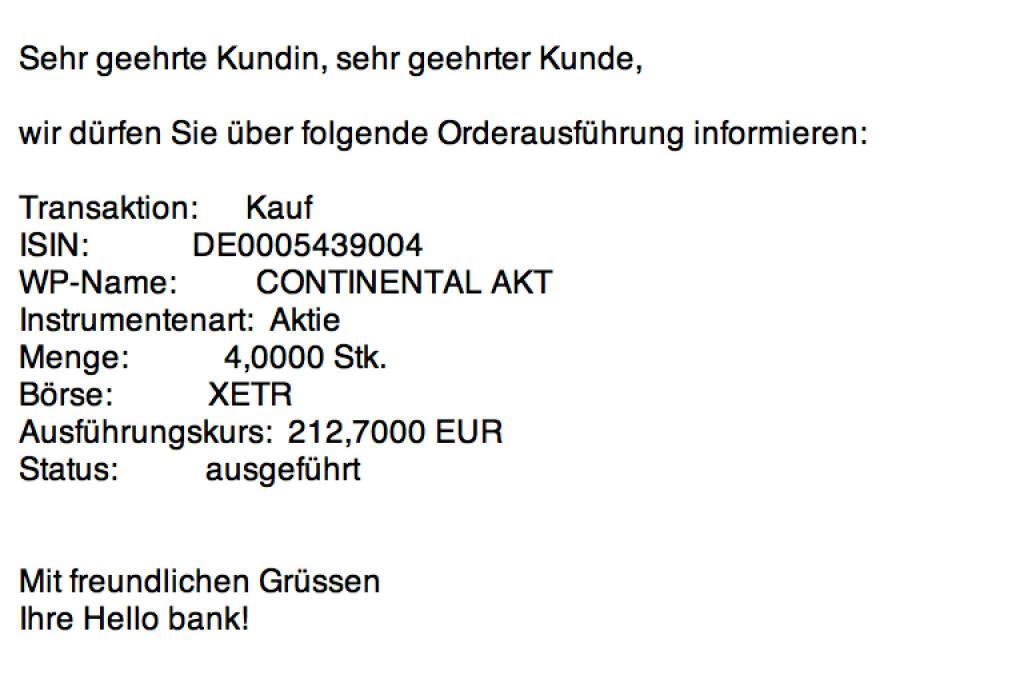Tag 89: Kauf 4 Continental zu 212,70 Euro (09.11.2015)