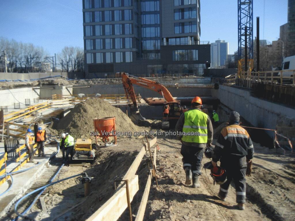 Die Fertigstellung des gesamten Kellerkastens (bis zur Geländeebene) sollte im August erfolgen - Immofinanz, © Immofinanz (26.03.2013)