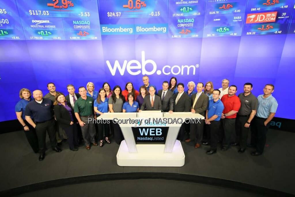 Web.com rings the Nasdaq Closing Bell! $WEB  Source: http://facebook.com/NASDAQ (11.11.2015)