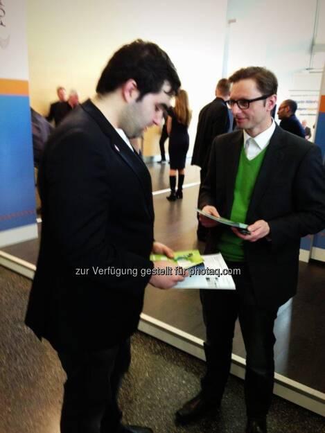 wikifolio auf der Deutschen Anlegermesse Frankfurt - Andreas Kern, © wikifolio (26.03.2013)