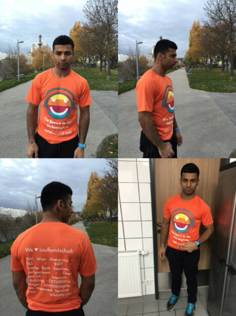Sidhu Simran im We love Laufkundschaft-Shirt (11.11.2015)