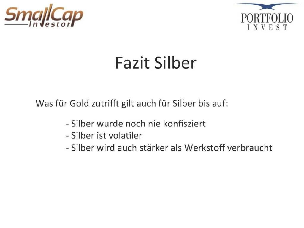 Fazit Silber (12.11.2015)