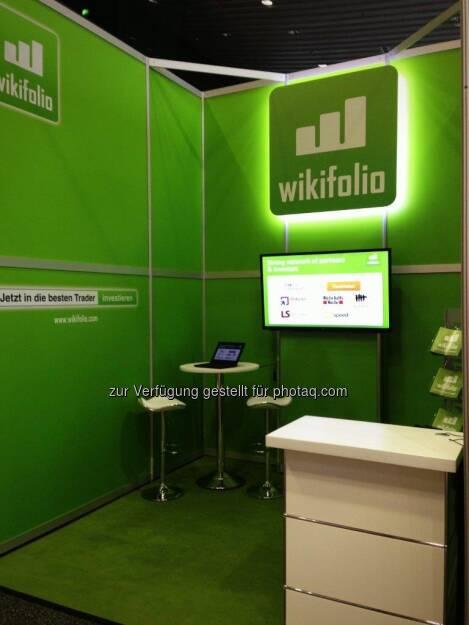 wikifolio auf der Deutschen Anlegermesse Frankfurt , © wikifolio (26.03.2013)