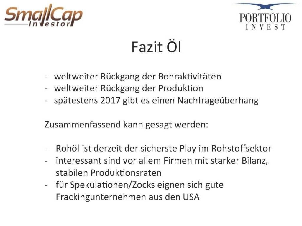 Fazit Öl (12.11.2015)