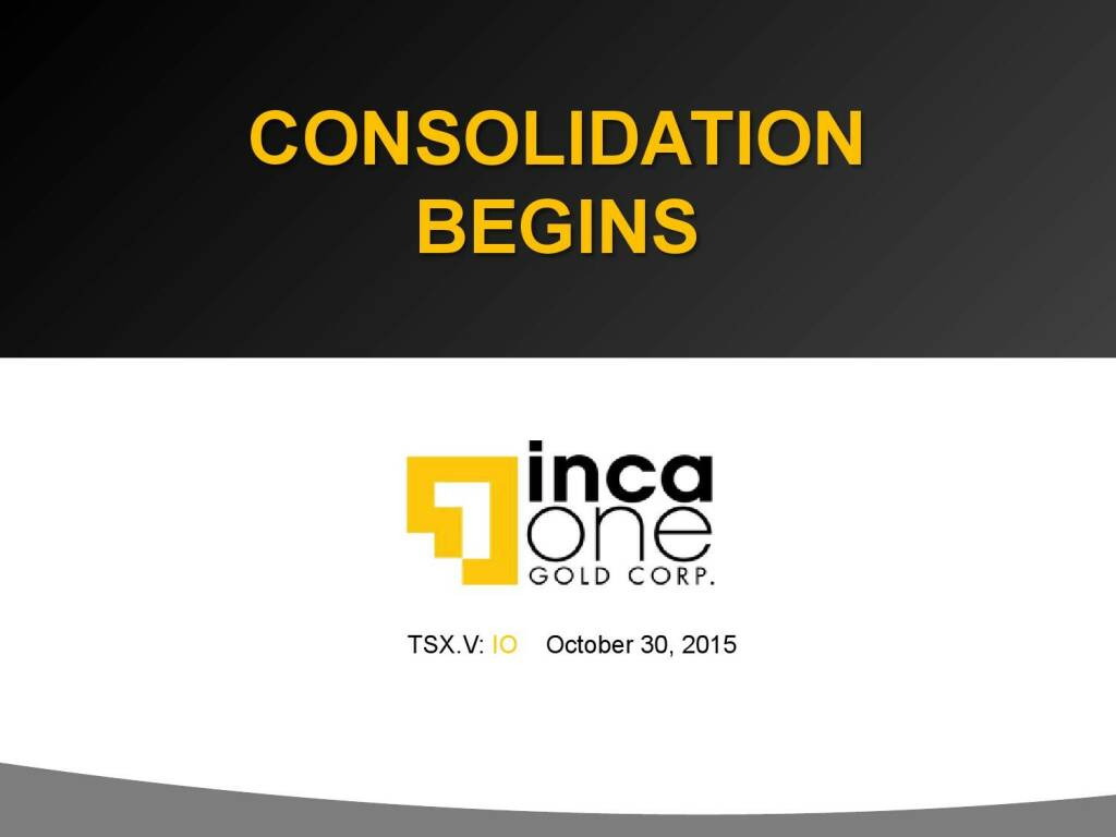 Consolidation Begins (12.11.2015)
