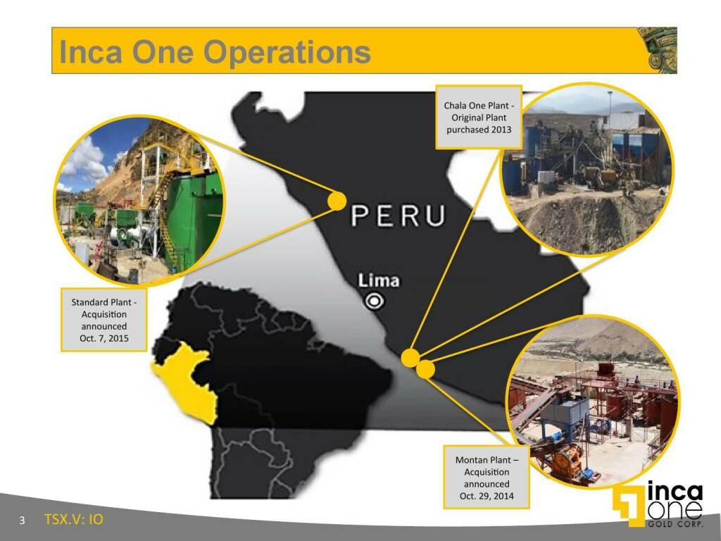 Inca One Operations (12.11.2015)