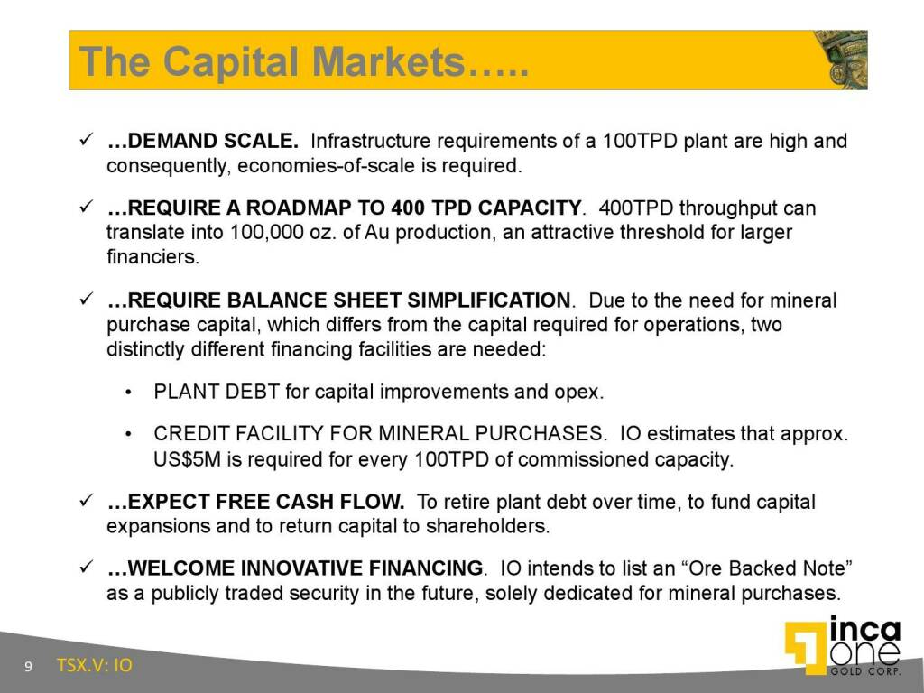The Capital Markets..... (12.11.2015)