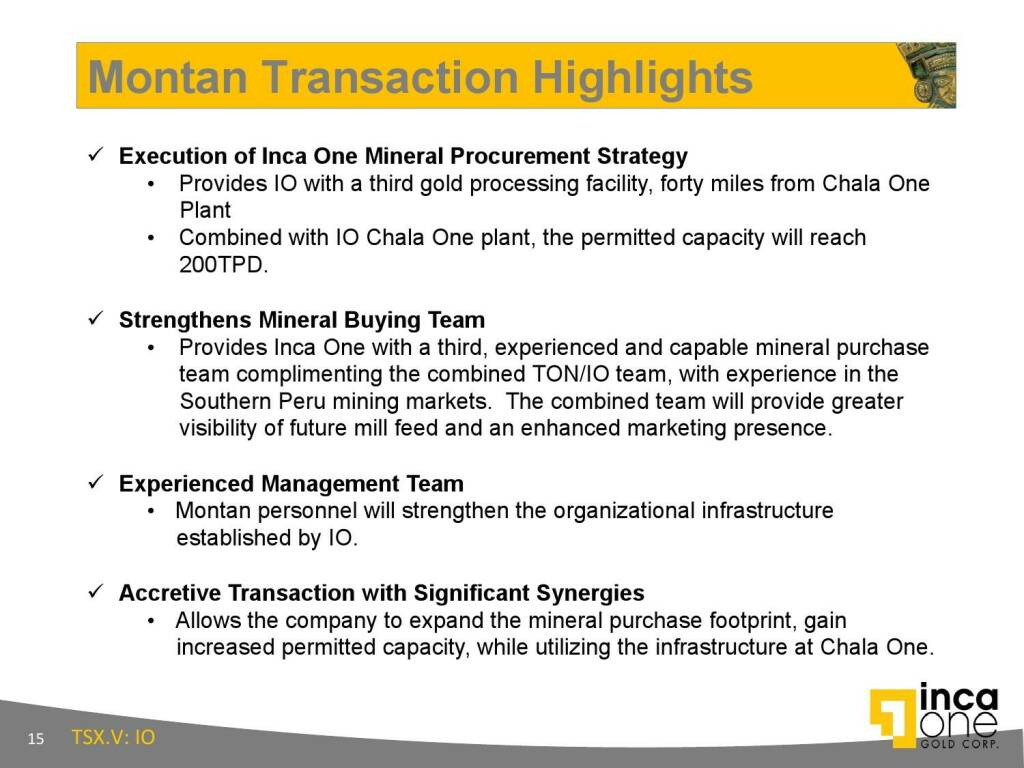 Montan Transaction Highlights (12.11.2015)