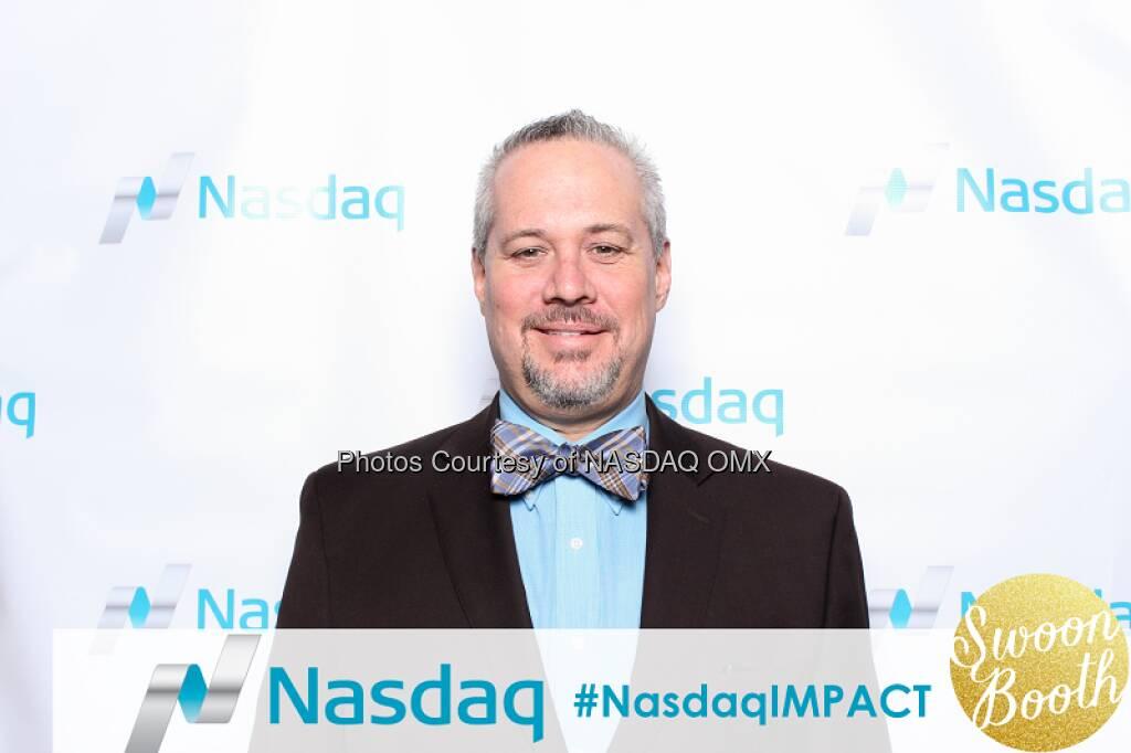 Looking dapper! Thanks for stopping by the @nasdaqindexes photo booth at #SchwabIMPACT! #indexes #nasdaqIMPACT  Source: http://facebook.com/NASDAQ (13.11.2015)
