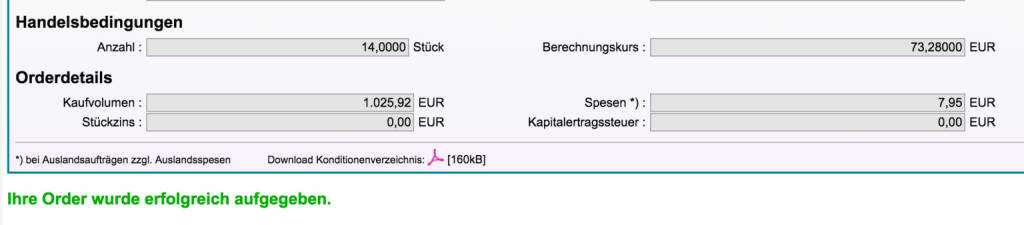 Tag 93: Kauf 14 Exxon zu 73,28 Euro (13.11.2015)