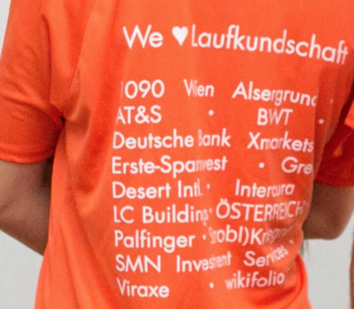Eine Aktion von Runplugged mit 1090 Wien Alsergrund, AT&S, BWT, Deutsche Bank Xmarkets, Erste-Sparinvest, Green Desert Intl., Intercura, LC Buildings, Österreich, Palfinger, Strobl)Kriegner, smn, Viraxe und wikifolio.com
